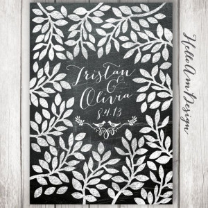 Wedding Guest Book -chalkboard rustic style - Guest Book Print ...