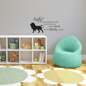 ... our new set of Narnia Quotes! Check out our Aslan Safe Quote decal