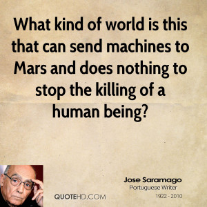 ... to Mars and does nothing to stop the killing of a human being