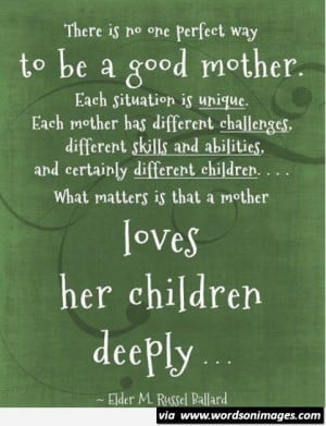 To be a good mother quote