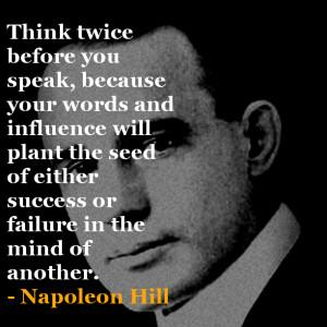 Napoleon Hill Inspirational Quote