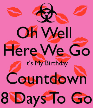 Countdown To My Birthday In 5 Days