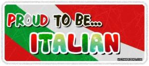 Nationalities Graphic - Proud To Be Italian