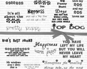 Digital Word Art about Dogs, Dog Di gital Quotes, Pet Digital Quote ...
