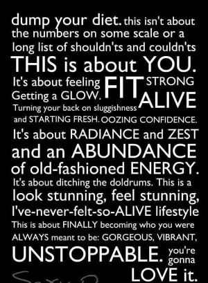 Dump Your Diet Inspirational Life Quotes