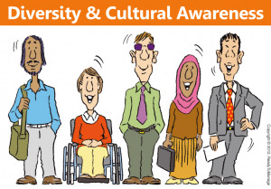 Diversity and Cultural Awareness Cartoon