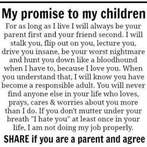 Meaningful quotes my promise to my children