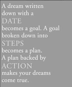 Ready to #liveyourdream ? Write it down with a date and it becomes a ...