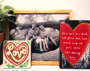 ... much love we put into the giving Quote by Mother Teresa (5x7 Canvas
