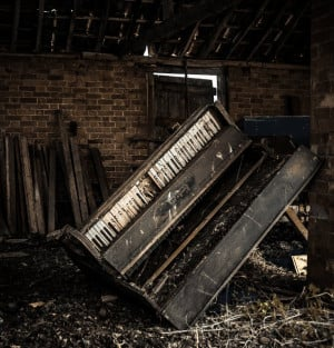 Abandoned Places, Abandoned House, Abandoned Building, Piano