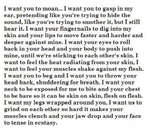 want you to moan..