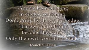 Water's edge - Jeanette Berson quote