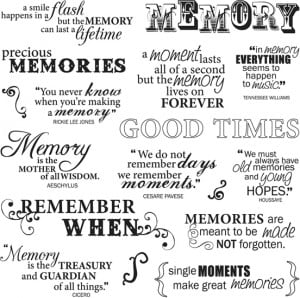 Fiskars - Clear Acrylic Stamps - 8 x 8 - Good Times Quotes