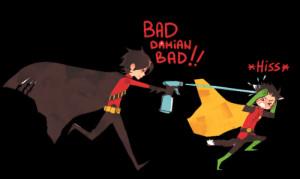 batman dc comics Damian Wayne tim drake Red Robin