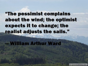 The pessimist, optimist and realist quote on imgfave