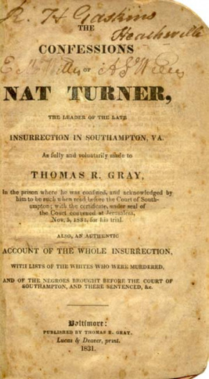 OF NAT TURNER,