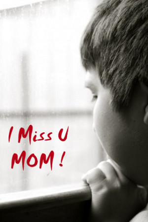 Miss U Mom download wallpaper for iPhone