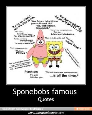 Famous spongebob quotes