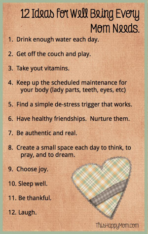 12 Simple Ideas for Well-Being. These are easy to incorporate into the ...