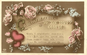 Today is hubby and my anniversary - we were married in '9teen87' ) :D