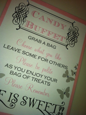 Quotes For Candy Buffet Table. QuotesGram