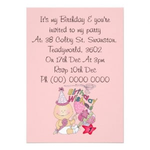 Happy Birthday Girl wishes 1 Year Old Personalized Announcement ...