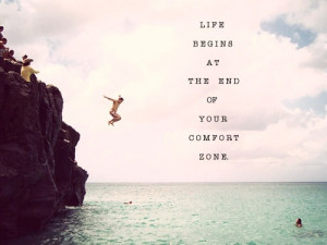 To set aside the fear of the unknown and it's ok to take the plunge ...