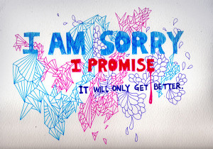 Image of I Am Sorry drawing by artist YaChin Bonny You