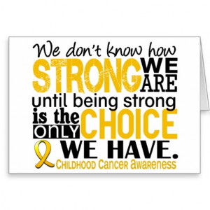 Childhood Cancer How Strong We Are Greeting Cards