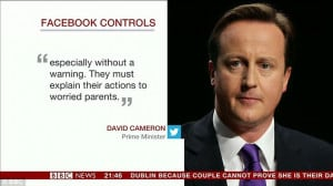 ... parents' as 'patients' in the quote from Prime Minister David Cameron