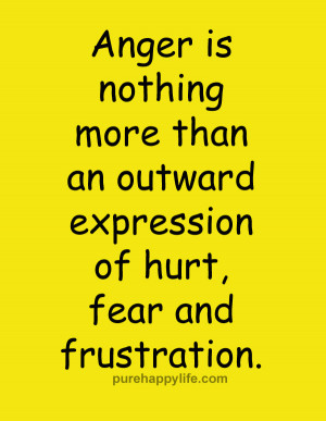 Anger Quote: Anger is nothing more than an outward…