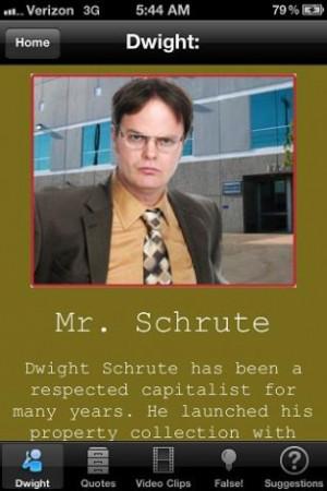 Dwight Schrute quote of the da Screenshot 2
