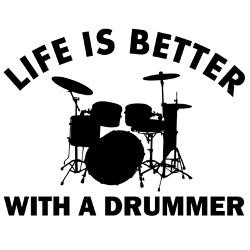 life_is_better_with_a_drummer_greeting_card.jpg?height=250&width=250 ...