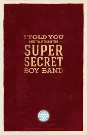 fancykraken:Marvel Quotes Poster Series↳ Iron Man