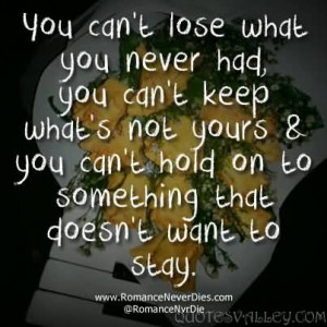 Quotes About Letting Go Of Someone You Never Had. QuotesGram