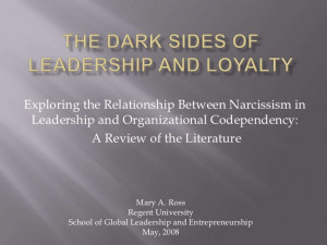 Narcissism and Codependency in Leader-Follower Relationship