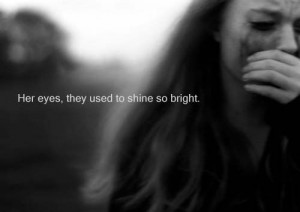 girls Black and White life depressed sad eyes quotes Typography pain ...