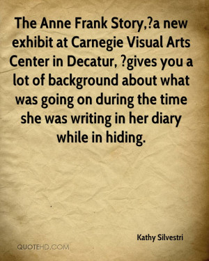 The Anne Frank Story,?a new exhibit at Carnegie Visual Arts Center in ...