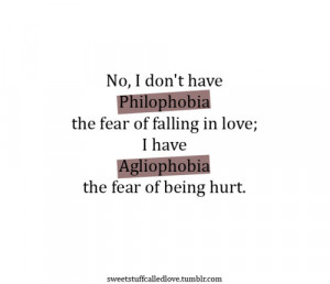 Fear of being hurt.. and REJECTED.