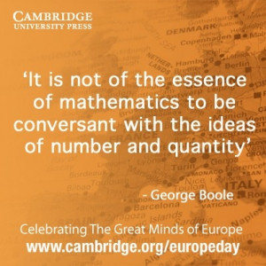 George Boole quote #EuropeDay #Boolean - Repinned by UXSherlock.
