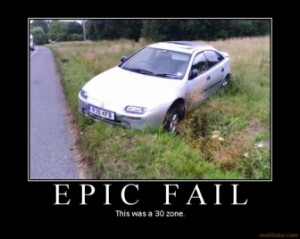 Epic Fail Car Crash 30 Speed Grass Ditch Funny Kir Comment Picture ...