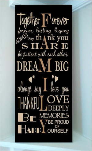 Beautiful 10x24 wooden board sign with subway art quote..Together ...