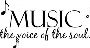 Music the voice of Soul Home Decor vinyl wall decal quote sticker ...