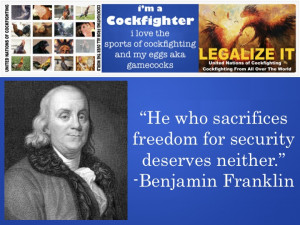 """He who sacrifices freedom for security deserves neither."""""""