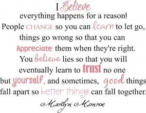 Its not easy, and some things you dont want to accept. But sometimes ...