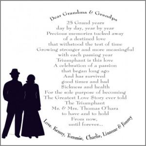 25th anniversary poetry wedding