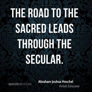 Abraham Joshua Heschel Quotes