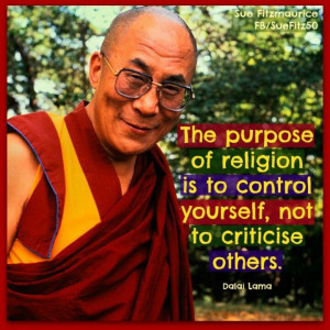 Enlightenment. The only religious leader who makes any sense at all ...