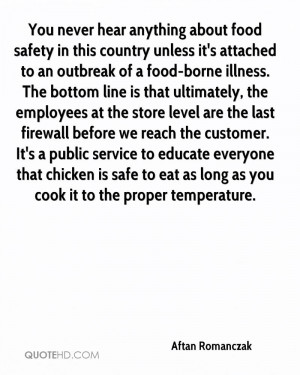 You never hear anything about food safety in this country unless it's ...