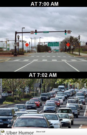 This is how traffic works every single morning
